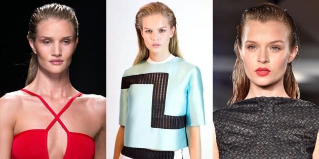 2015 Yaz Sezonunun trend saç modelleri - Islak Saçlar
