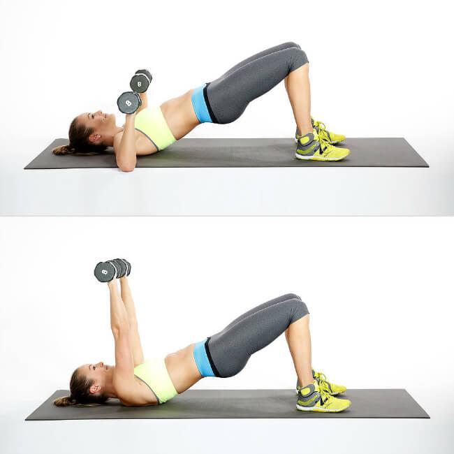 Göğüs Dikleştirme Hareketleri-3-Bridge-Chest-Press