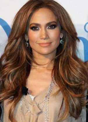 Jennifer Lopez Katlı Saça Karamel Rengi Tonu