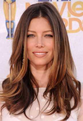 Jessica Biel Angelina Jolie Karamel Saç Rengi