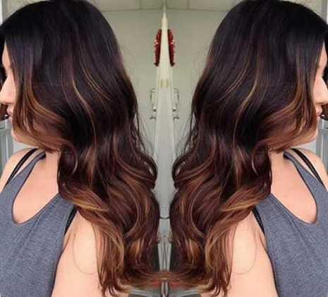 Karamel Kahve Dalgalı Ombre Saç Rengi