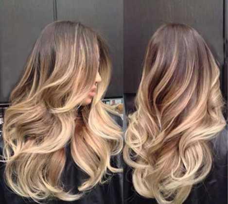 Karamel Saç Rengine Ombre Saç Modeli