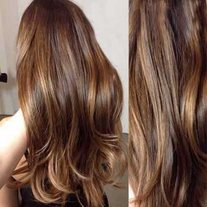 Balyajlı Karamel Saç Rengi