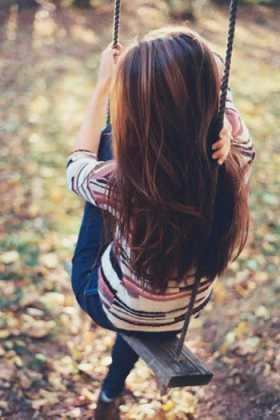 Karamel Işıltılı Koyu Renk Saç