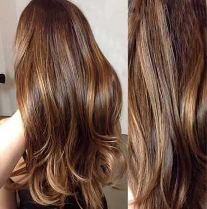 Karamel Işıltılı Dalgalı Saç