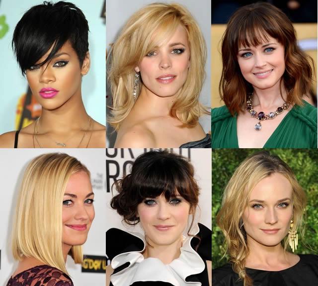 Geniş Alın İçin Saç Modelleri