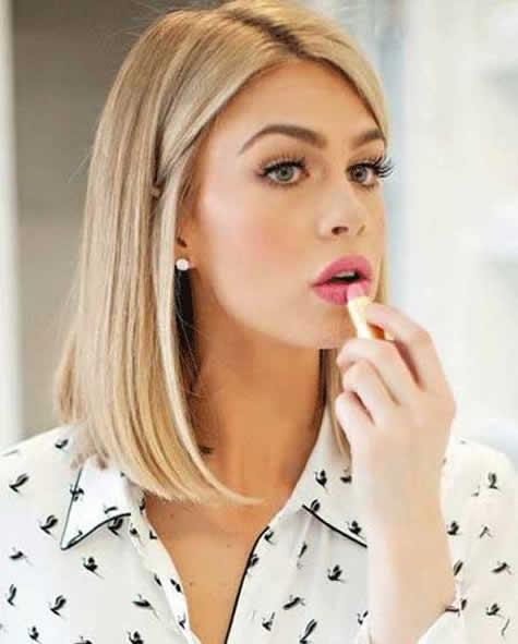 En Güzel Sarı Saç Modelleri - Orta boy sarı saç modeli - Pegarose.com