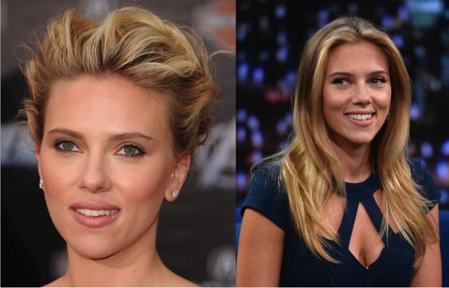 Scarlett Johansson - Yuvarlak yüze giden saç modelleri