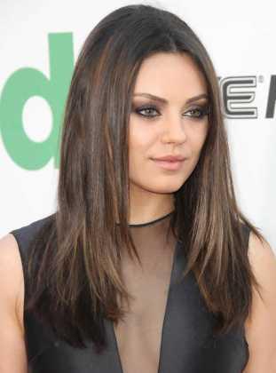 Mila Kunis - Yuvarlak yüze giden saç modelleri