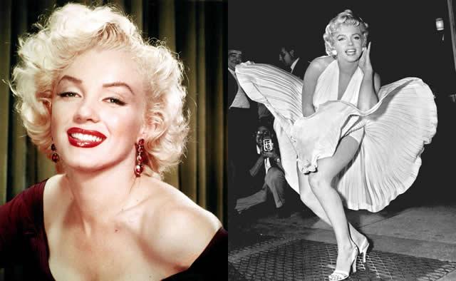 Marilyn Monroe Sarı Saç Modeli