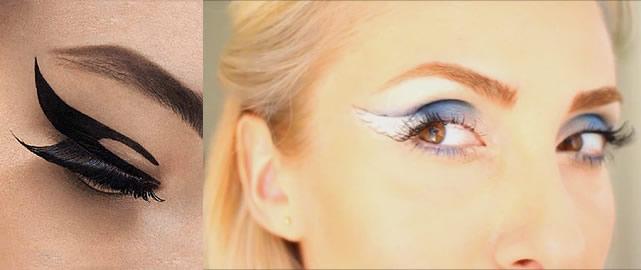 Çift Kanat ve Melek Kanadı Eyeliner