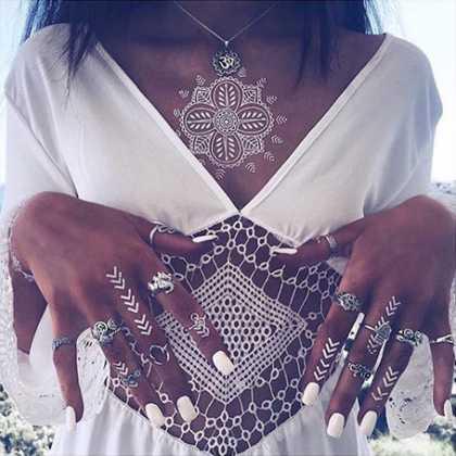Yeni trend: Beyaz dövme