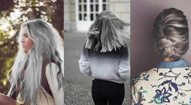 Gri saç rengi modeleri